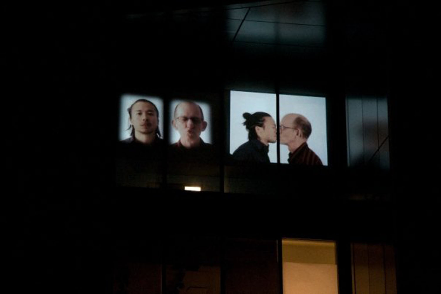 Kiss I (2008) by Annie Onyi Cheung, photo by David Reyes