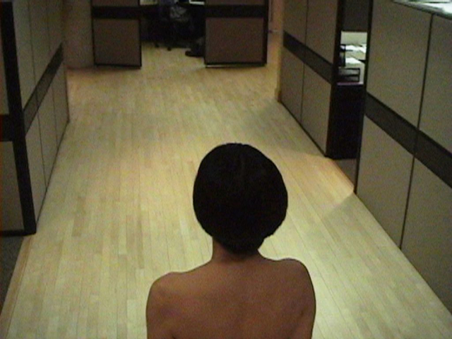 x-chromosome at work (2007) by Annie Onyi Cheung, video by Rick Saulnier