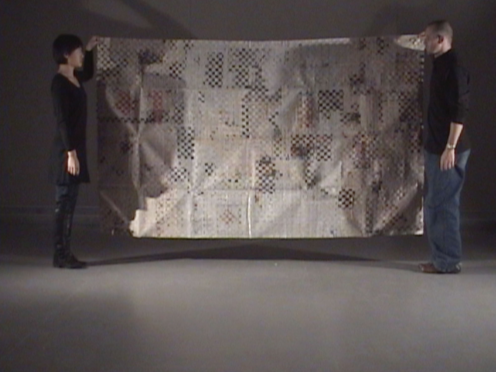 Finational [Canadian Flag] (2008) (unframed, performance still) by Annie Onyi Cheung